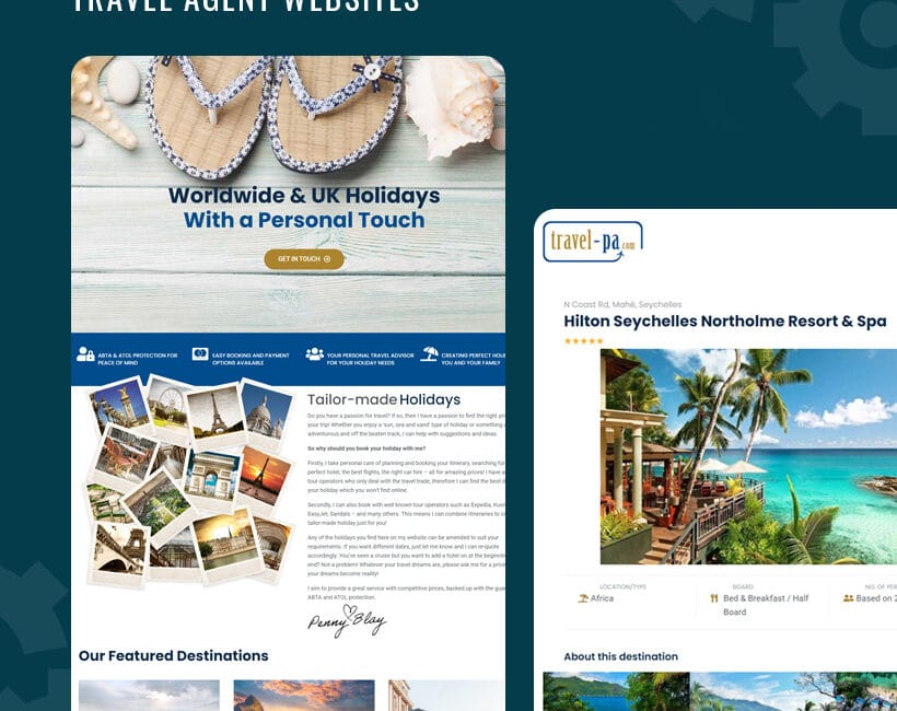 websites for tavel agents sussex